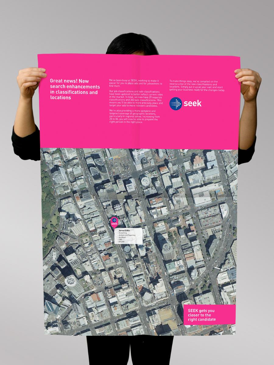 SEEK - branding being demonstrated on B2B poster