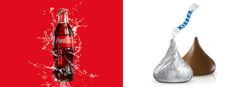 Branding - Shapes - Coca Cola & Hershey's Kisses