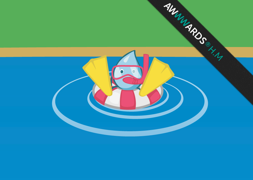 South East Water - Educational Website Image of character Woosh