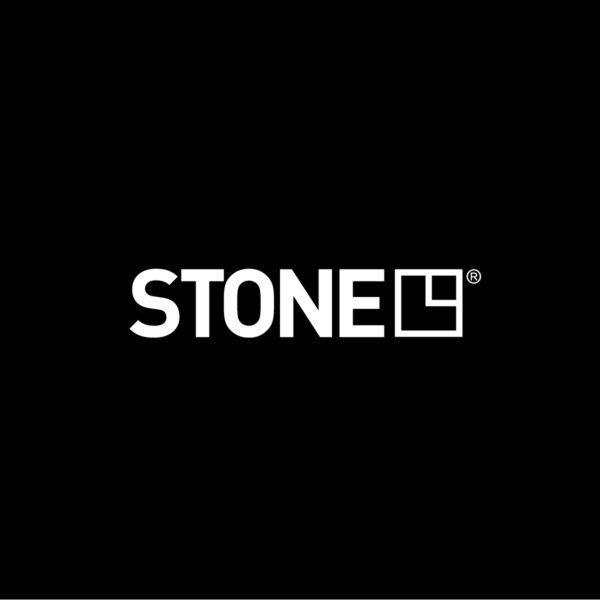 STONE Brand Identity Brand Mark on Black Background