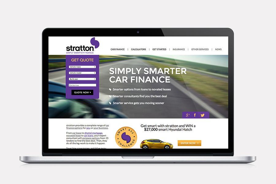 Stratton Branding applied on website