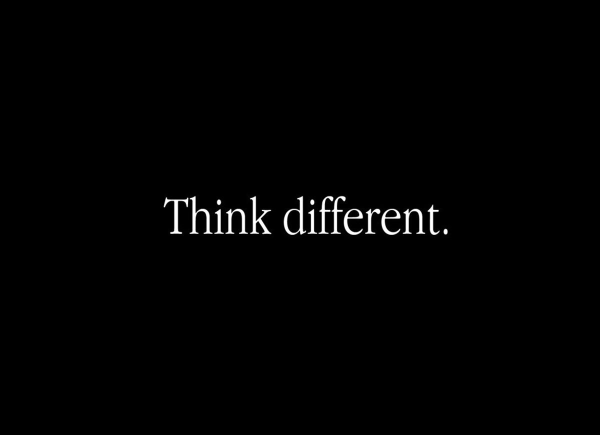 Think Different positioning line
