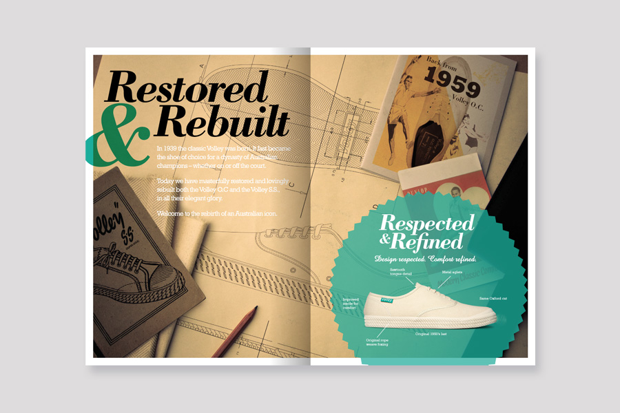 Volley Restored & Rebuild Brochure Design
