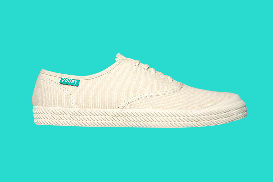 Volley Shoe on Teal Background
