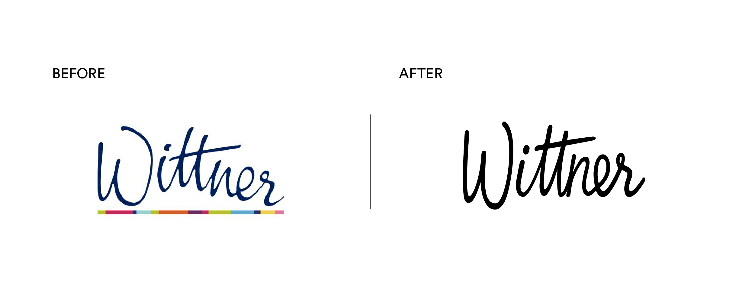 Wittner Brand Mark old logo and new Brand Mark after brand rebrand