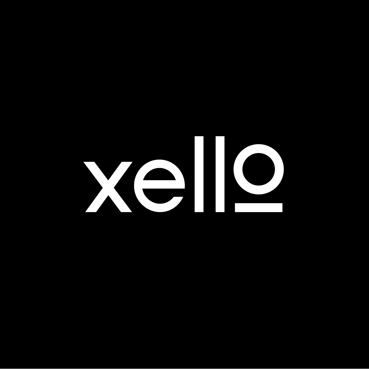 Xello Brand Identity Brand Mark on Black Background