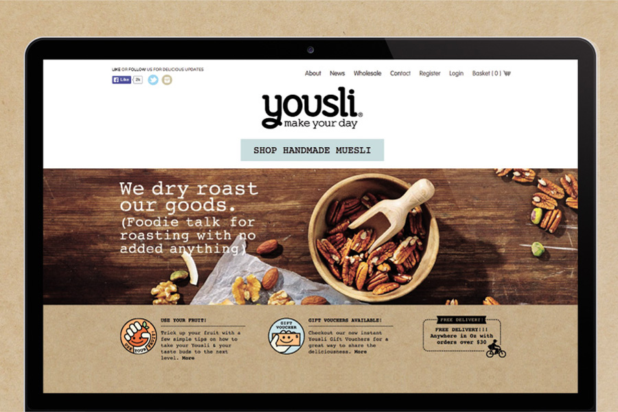 Yousli Branding applied to web - website design by Brands to life
